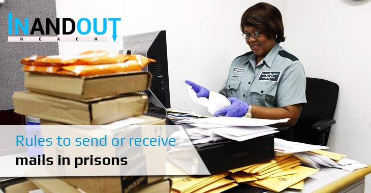 Rules to send or receive mails in prisons